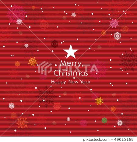 愉快的聖誕節和雪花例證 49015169