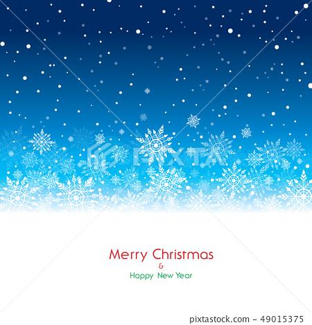愉快的聖誕節和雪花例證 49015375