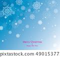 愉快的聖誕節和雪花例證 49015377