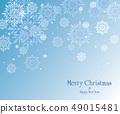 愉快的聖誕節和雪花天空例證 49015481