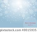 愉快的聖誕節和雪花天空例證 49015935