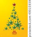愉快的聖誕節和星樹例證 49015939