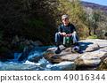 Senior man on a hiking trip alone 49016344