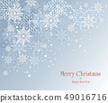 愉快的聖誕節和雪花天空例證 49016716