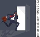 Businessman Running Light from the open door 49016932