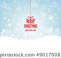 愉快的聖誕節和雪花例證 49017008