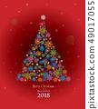 愉快的聖誕節和雪花樹例證 49017055