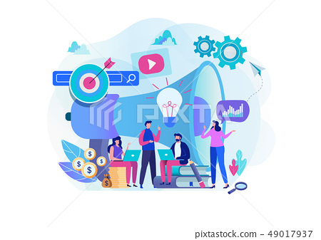 Digital marketing strategy team. Content manager.  49017937