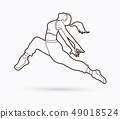 Street dance, B boys dance, Hip Hop Dancing action 49018524