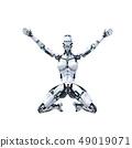 인간형 로봇 perming3DCG 일러스트 소재 49019071