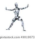 인간형 로봇 perming3DCG 일러스트 소재 49019073