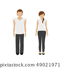 man and woman character in sport clothes 49021971
