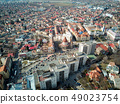 Aerial shot of Targu Mures old city at daylight 49023754