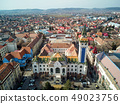 Aerial shot of Targu Mures city town hall 49023756