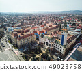 Aerial shot of Targu Mures city town hall 49023758
