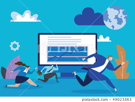 Business people race. Concept business 49023863