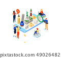 Travel around the world - colorful isometric illustration 49026482