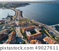 Aerial view of old Nessebar, ancient city on the Black Sea coast of Bulgaria 49027611