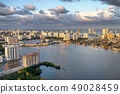 Sunset aerial view of Miami skyline from 49028459