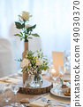wedding table with floral arrangement  49030370