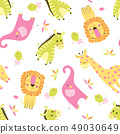 seamless animal scandinavian pattern 49030649