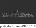 New Delhi skyline. 49032219