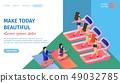 Make Today Beautiful Horizontal Banner. Fitness 49032785