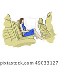 businesswoman sitting in a car vector illustration 49033127