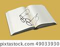 書籍和眼鏡 49033930