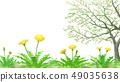 민들레와 葉桜 투명 소재 수채화 풍의 49035638