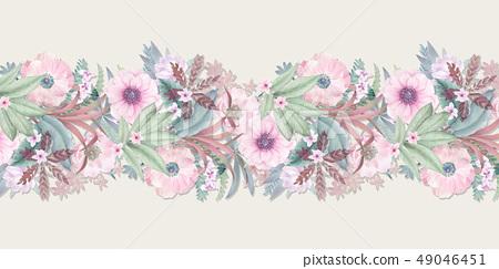 優雅的水彩手繪花卉 49046451