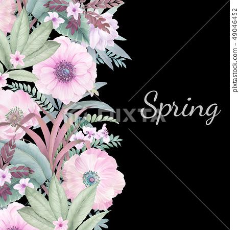 우아한 수채화 손으로 그린 꽃 49046452