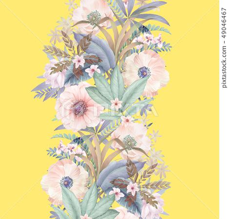 優雅的水彩手繪花卉 49046467