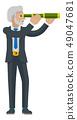 Telescope Spyglass Character Business Concept 49047681