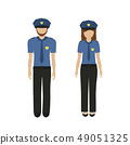 man and woman character policeman and policewoman in uniform 49051325