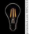 LED lamp on a black 49052153