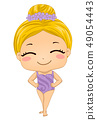 Kid Girl Synchronized Swimming Outfit Illustration 49054443