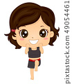 Kid Girl Muay Thai Pose Illustration 49054461