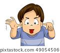 Kid Boy Make Face Illustration 49054506