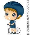 Kid Boy Cyclist Illustration 49054523