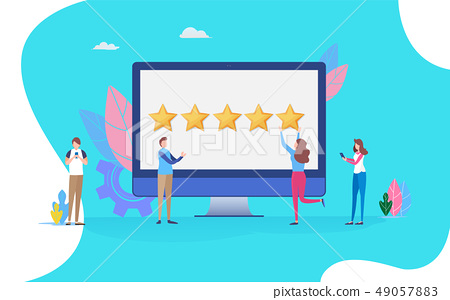 User giving five star rating. feedback review 49057883