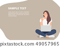 Cartoon people character design banner template 49057965