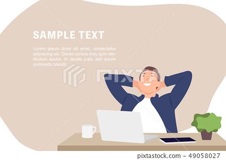 Cartoon people character design banner template 49058027