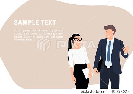 Cartoon people character design banner template 49058028