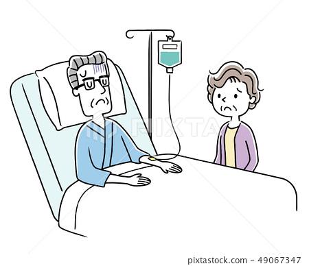 老人和妻子住院治療 49067347