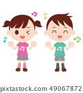 唱歌和跳舞的孩子匹配音樂筆記T卹 49067872