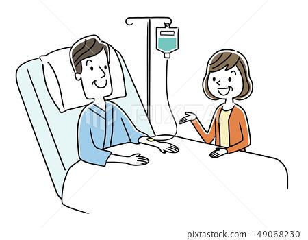 住院的男人和妻子 49068230