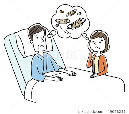 夫妻担心住院费用 49068231