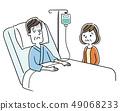 住院的男人和妻子 49068233