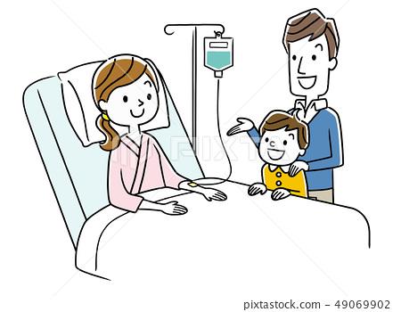 住院的母親和家庭 49069902